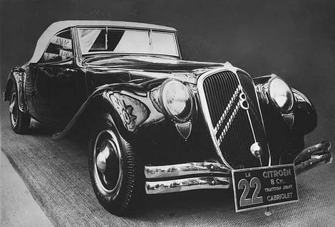 Kabriolet Traction 22, 1934.